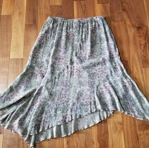 J. Jill asymmetrical hem skirt